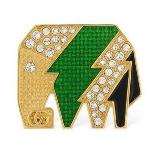 GUCCI Crystal Embellished Elephant Ring NWT